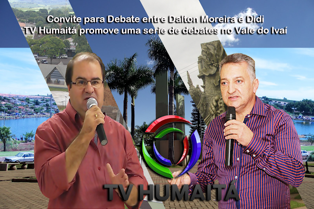 DALTON MOREIRA E DIDI NO DEBATE NA TV