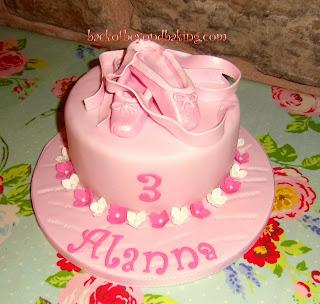 Ballet shoe cake