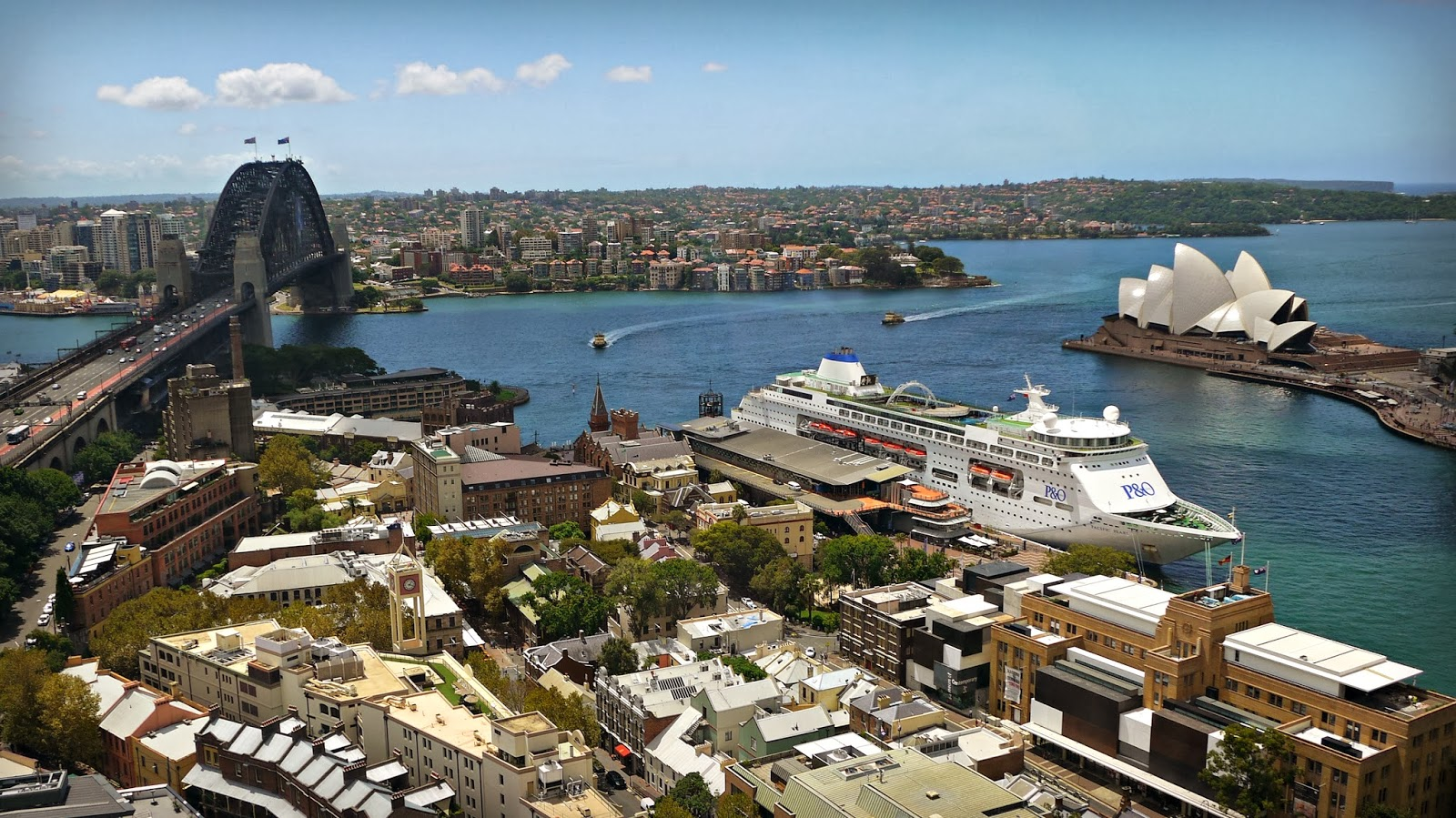 View over Sydney Harbour from Shangri La Sydney