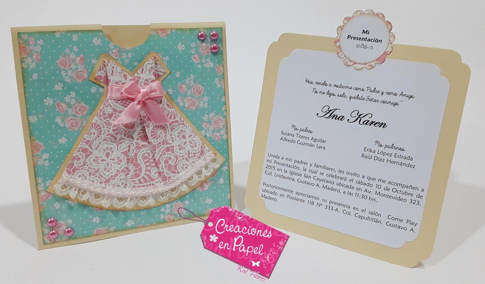 b1e468ff936b Creaciones en papel con Katia Valenzuela  Invitación y recuerdos ...