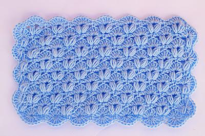 1 - Crochet IMAGEN Punto de abanico combinado con punto puff