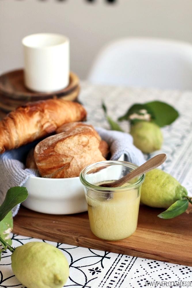 Zitronen Marmelade ohne Kochen mit Limoncello