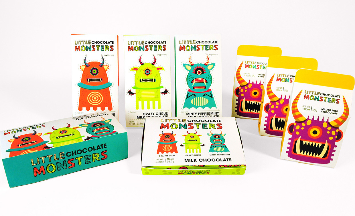 Little Chocolate Monsters Student Project On Packaging