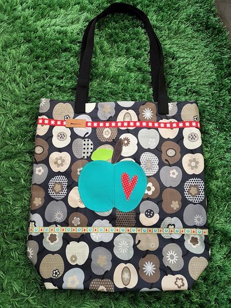 Stoffbeutel von farbenmix Omas Liebling Einkaufstasche