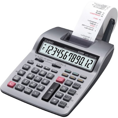 Casio Printing Calculator - Office Mini Digital Printer - HR-100TM