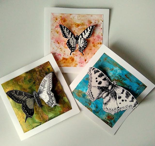 kartki z motylami