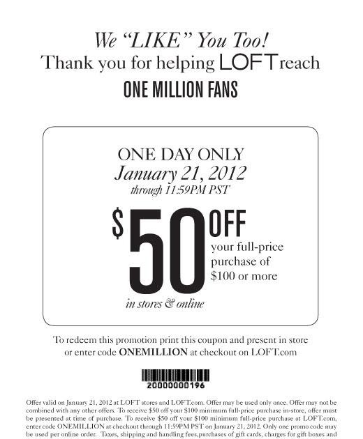 image relating to Loft Coupon Printable named Ann taylor coupon code 50 off 100 - Catalina island ferry