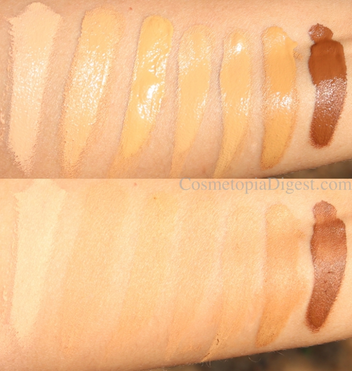 How to choose the Huda Beauty #FauxFilter Foundation Shade - swatches For Olive/Warm/Tan Indian, South Asian, Latino, Filipino, and Middle Eastern Skintones.