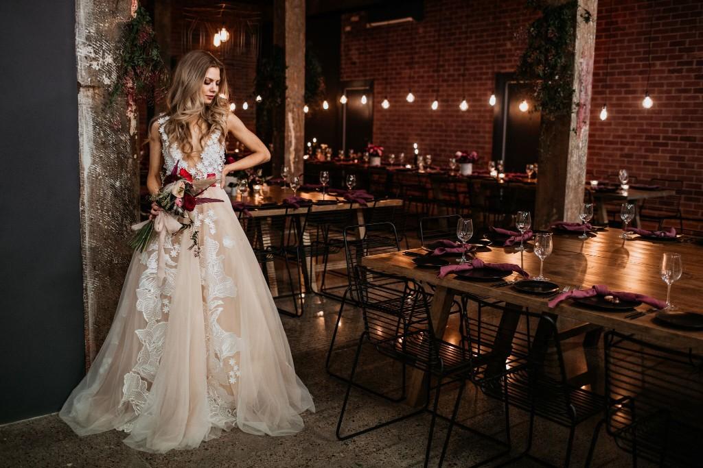 CHIC WAREHOUSE WEDDING VENUE WOOLLOONGABBA PHOTOGRAPHY CATERING CLOUD CATCHER STUDIO