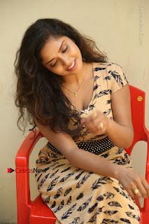 Telugu Actress Karunya Chowdary Stills in Short Dress at ATM Not Working Press Meet  0206.jpg