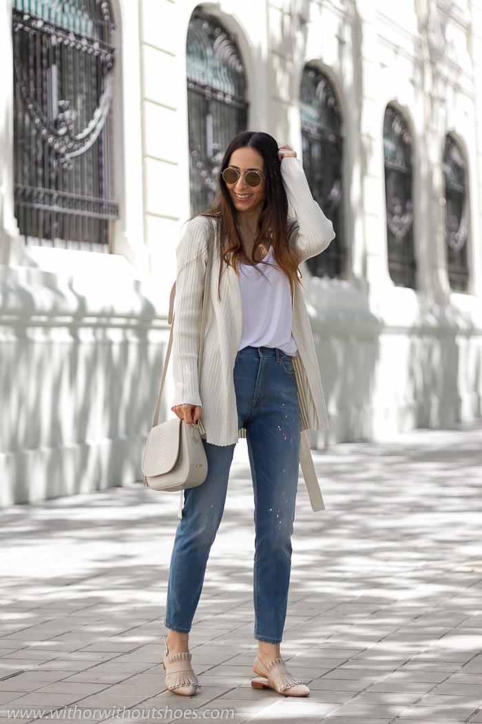 Pantalones vaqueros Jeans modelo Mareg de Meltin' Pot y mules Pertini de Cortes Zapaterias