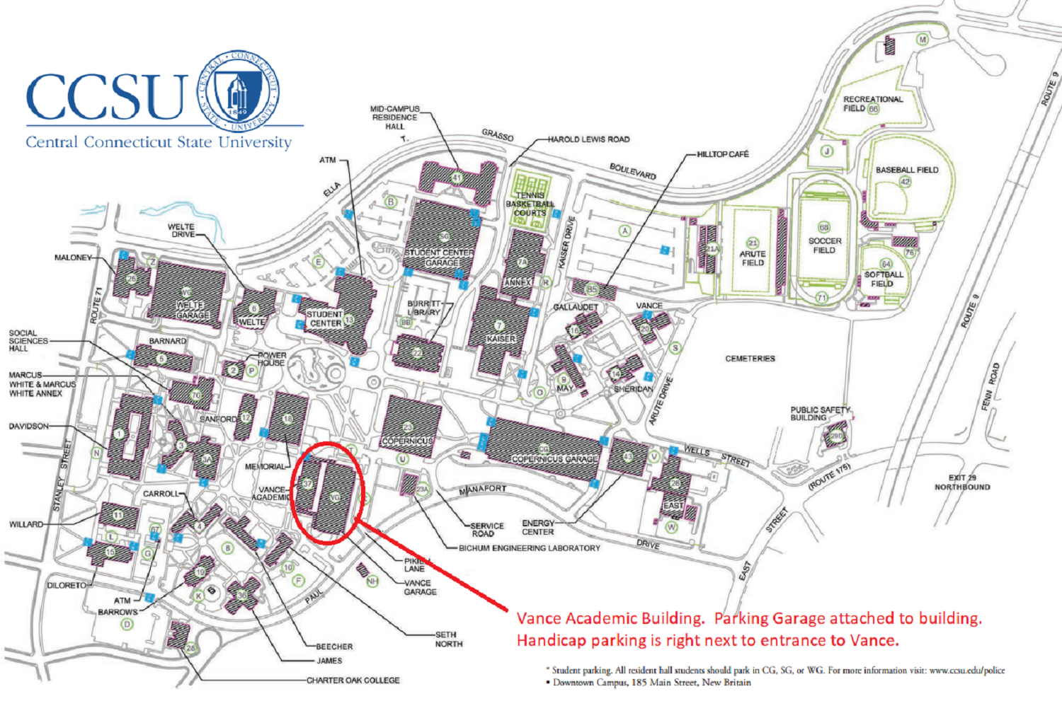 Ccsu Campus Map In Memoriam Brian M. O'Connell
