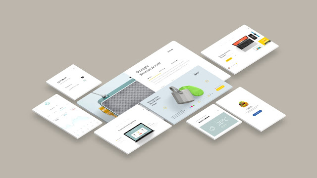 Free Web and App UI Screen Mockup PowerPoint Templates Slide 6