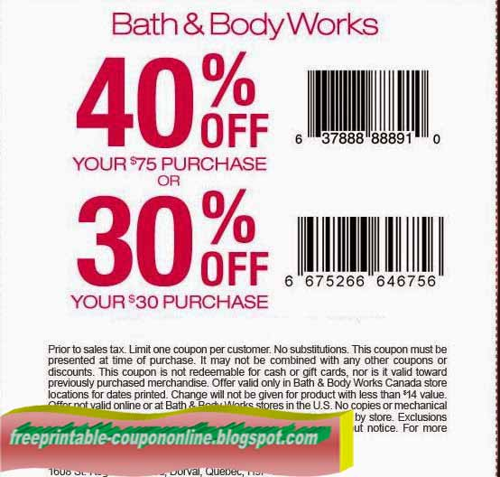 Find Bath and Body Works Coupons & Online Promo Codes. Check the current Bath and Body Works Coupon offers and save money when you use printable coupons and online codes to buy home fragrance, gifts or beauty products. Here is how you can make a budget work when you shop at one of the biggest bath stores in the country.