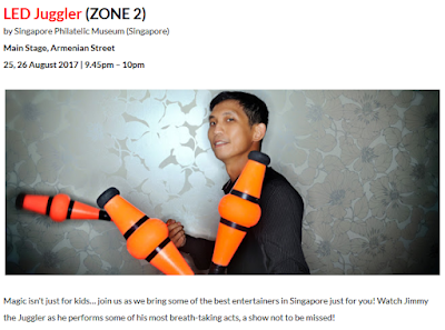LED Juggler | Singapore | Juggling Performer