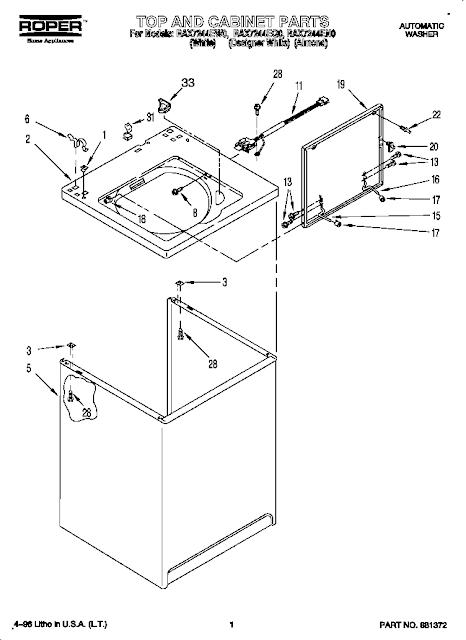 Washing Machines: Roper Washing Machine Parts