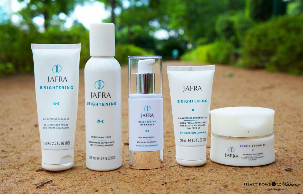 http://www.heartbowsmakeup.com/jafra-brightening-range-cleanser-toner-skin-brightener-night-cream-review/