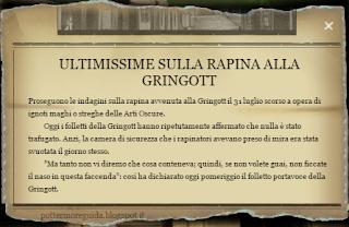 L1C8M3: Ritaglio della Gazzetta del Profeta sulla rapina alla Gringott