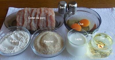Preparare snitele de porc - etapa 1