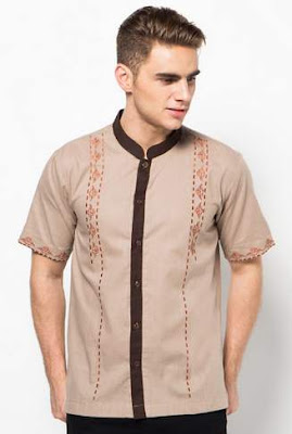 Model baju muslim lengan pendek modis warna kalem