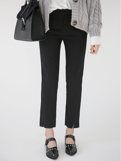 Slit Straight-Cut Slacks