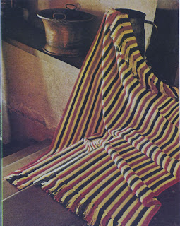 Crocheted Stripe Afghan pattern