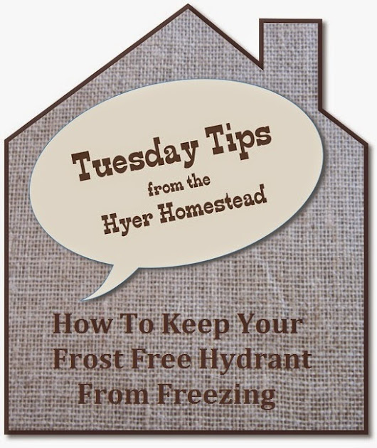 How To Keep Your Frost Free Hydrant From Freezing