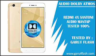 Pasang / Install Dolby Atmos untuk Xiaomi Redmi 4X Oreo