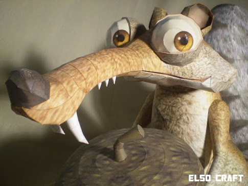 ELSO CRAFT: Scrat Papercraft (Ice Age)