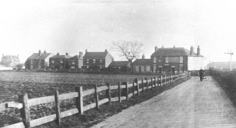 Rare picture of Station Road with Brockhurst Station in Background