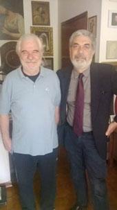 Santo Della Volpe con Carlo Soricelli