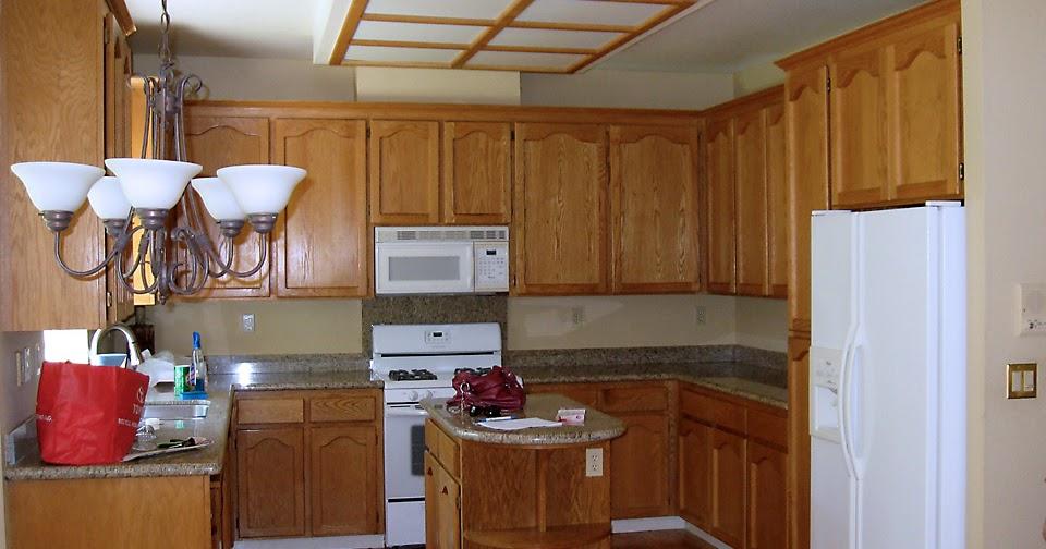 My New Kitchen Island: Staining Oak Cabinets!