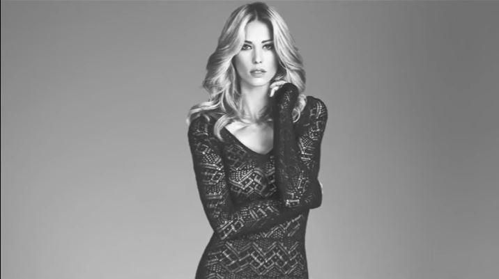 Elena Santarelli modella pubblicità Sandro Ferrone con Foto - Testimonial Spot Pubblicitario 2017