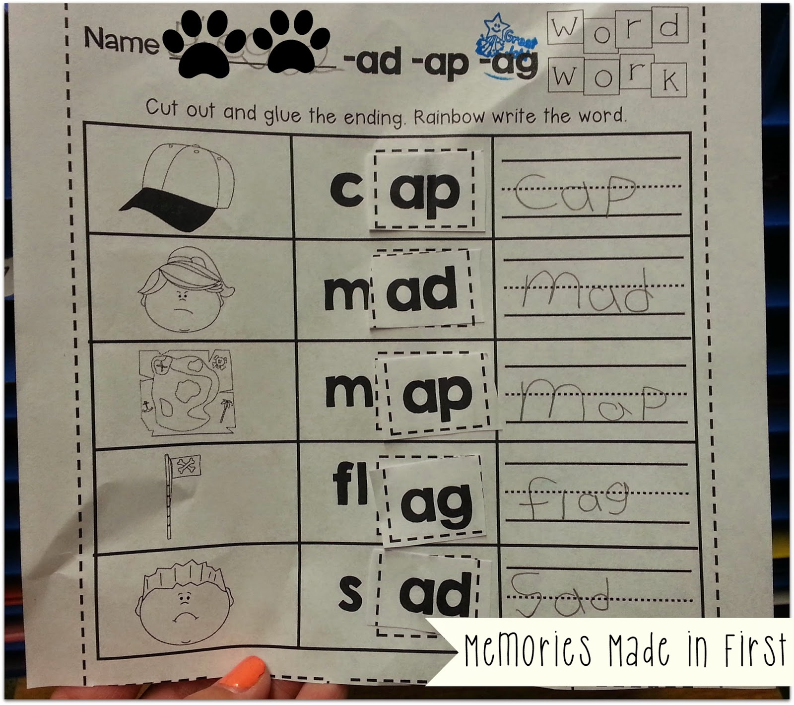 Memories Made In First Word Work Is Is How We Do It