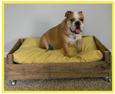 A mi manera c mo hacer una cama para perro for Reciclar una cama de madera