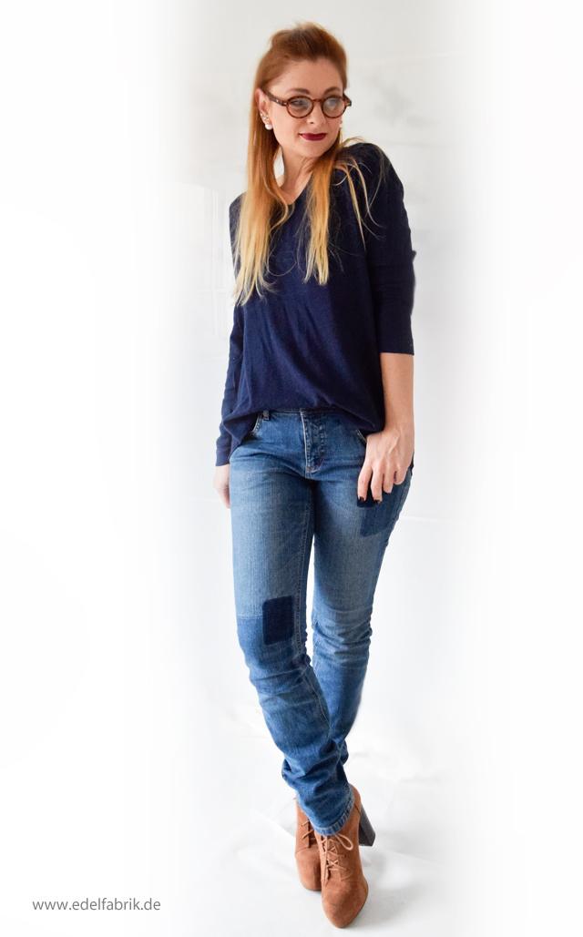 Jeans und Pullover aus der Helene Fischer Kollektion von Tchibo, die Edelfabrik