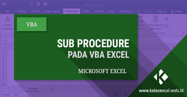 Sub Procedure Pada VBA Excel #06