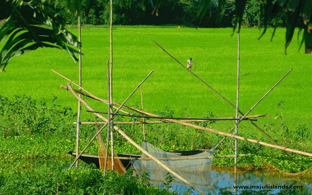 Fishing Net Of Majuli Island