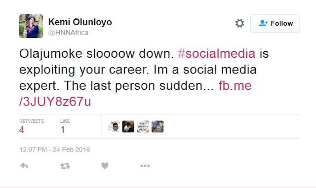 Daughter of Ex-Oyo Governor Blasts Former Agege Bread-seller, Olajumoke...See Shocking Details