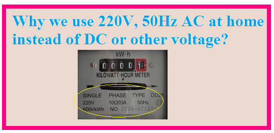 Why we use 220V, 50Hz AC at home instead of DC or other voltage