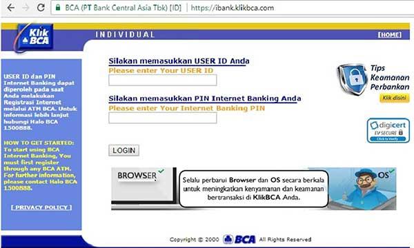 Cara Mengetahui User ID KlikBCA