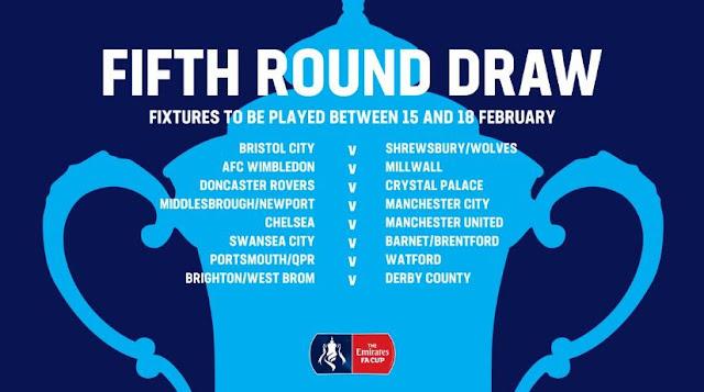 Jadwal Piala FA Sabtu-Minggu 16-17 Februari 2019, Chelsea vs MU Selasa