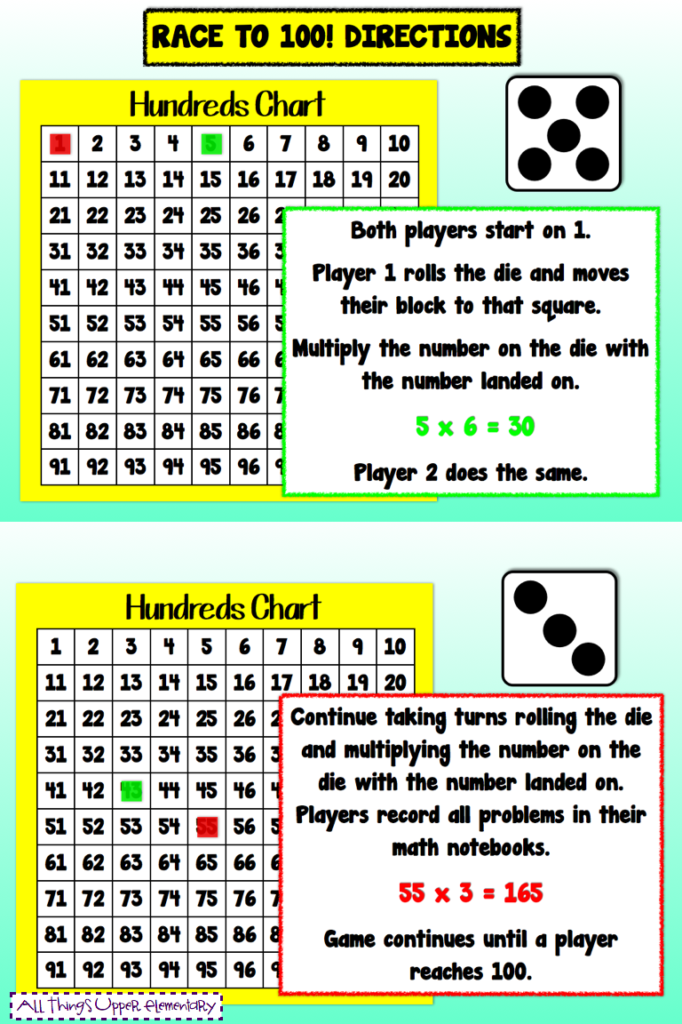 race+to+100+directions.001  Way We Use Math on facts printable worksheets, worksheets missing numbers 1, questions multiplication division worksheet, multiplication question quiz, table for, practi test print, chart for kids, games chips chart 10 1,