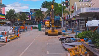 2012 Light Rail Construction Surfers Paradise Blvd