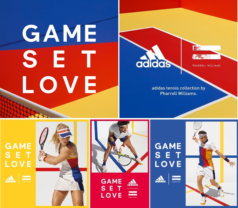 check out fce1d 41055 adidas Tennis presenta la nuova collezione di Pharrell Williams per gli US  Open