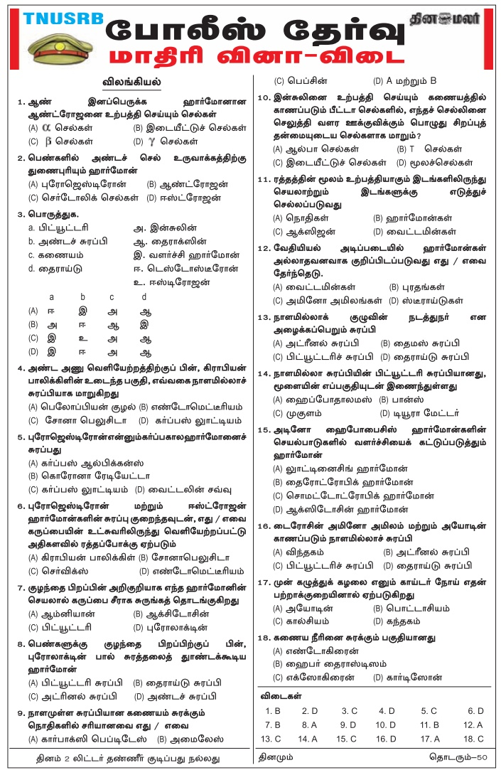 TN Police 2018 Download PDF
