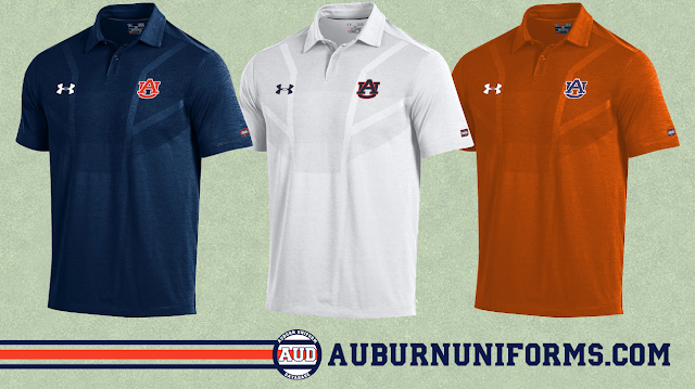 auburn under armour polo