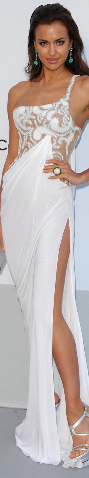 Irina Shayk in Atelier Versace 2011 amfAR Gala