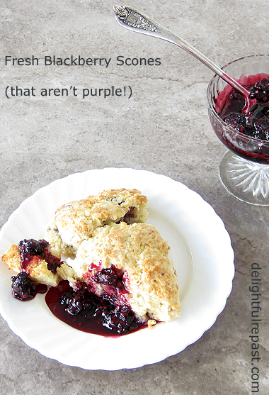 Fresh Blackberry Scones - that aren't purple! / www.delightfulrepast.com