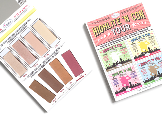 TheBalm Highlite 'N Con Tour Palette Review Swatches